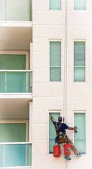 The Window Washer by Frank Mari