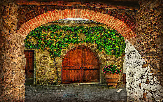The Winery's Entrance by Hanny Heim