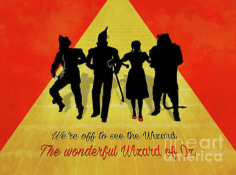 The Wizard of Oz Minimalist Movie Quote Poster Art 1 by Nishanth Gopinathan