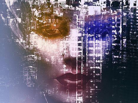The woman inside the big city by Gabi Hampe