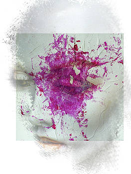 The woman with the pink splash by Gabi Hampe