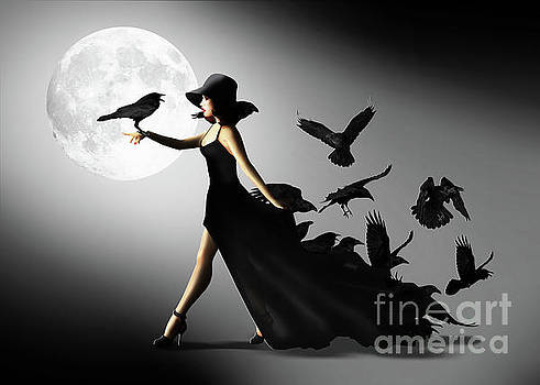 The woman with the ravens by Monika Juengling