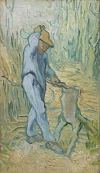 The Woodcutter after Millet Saint Remy de Provence September 1889 Vincent van Gogh 1853  1890 by Artistic Panda