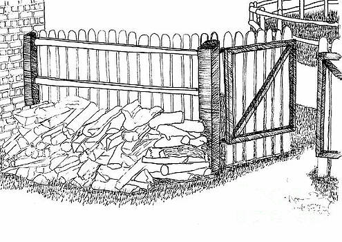 The Woodpile at the Back Gate by Dawn Boyer
