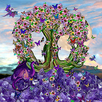 The World Tree Spring Equinox Dragons by Michele Avanti