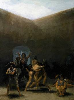The Yard Of A Madhouse 1794 by Goya Francisco