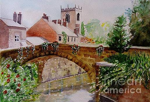 The Yarrow at Croston - painting by Veronica Rickard