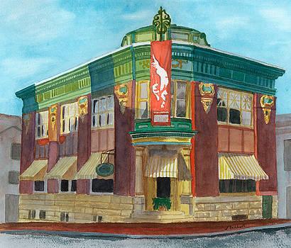 The Yellow Brick Bank Restaurant by Lynne Reichhart