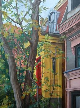 The Yellow Entry Ave Laval by Rita-Anne Piquet