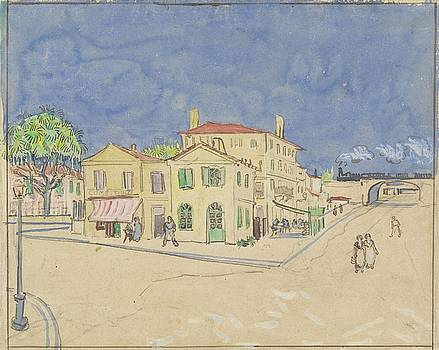 The Yellow House The Street Arles October 1888 Vincent van Gogh 1853  1890 by Artistic Panda