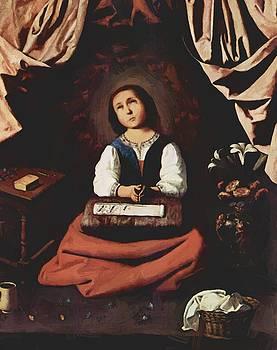 Zurbaran Francisco de - The Young Virgin 1630