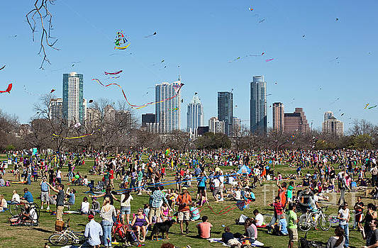 Herronstock Prints - The Zilker Park Kite Festival is Americas oldest continuous kite festival held every March in downtown Austin Texas