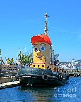 Theodore Tugboat Childrens Poster by John Malone