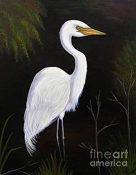 One Lone Egret by Valerie Carpenter