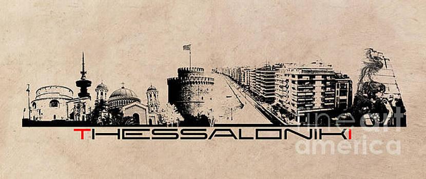 Justyna Jaszke JBJart - Thessaloniki skyline city