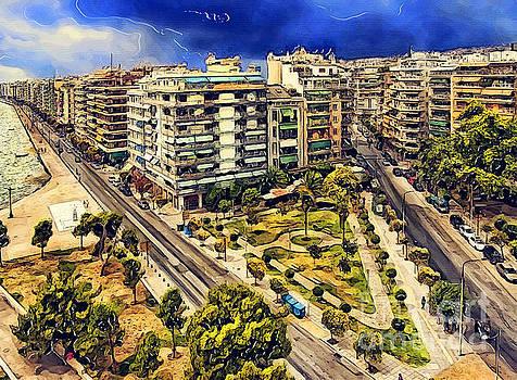 Justyna Jaszke JBJart - Thessaloniki watercolor