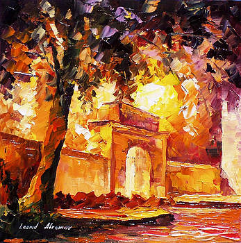 Thick Oak - PALETTE KNIFE Oil Painting On Canvas By Leonid Afremov by Leonid Afremov