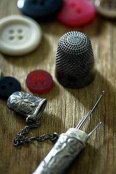 Thimble Buttons and Sewing Needles by Eleanor Caputo