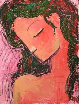Thinkful angel by Azadeh Amiri