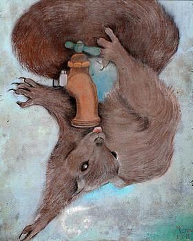Thirsty Squirrel by Edward Corpus