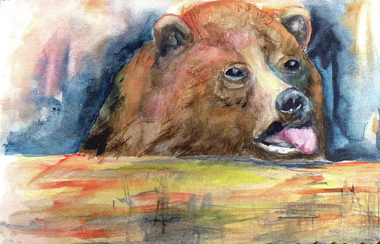 Thirsty Bear by Mary Silvia