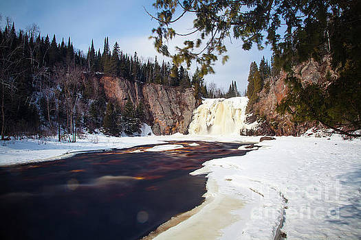 This is the High Falls of the Baptism River Tettegouche State Park Minnesota 2 by Wayne Moran