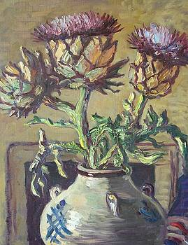Thistles in a Jug by Attributed to John Bratby
