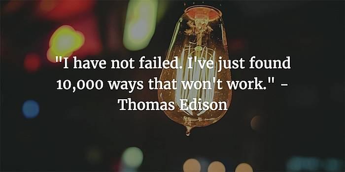 Thomas Edison Quote by Matt Create