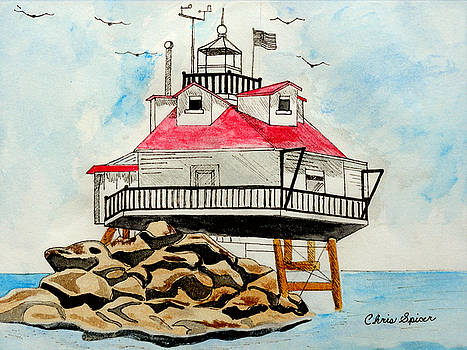 Thomas Point Lighthouse by Christopher Spicer