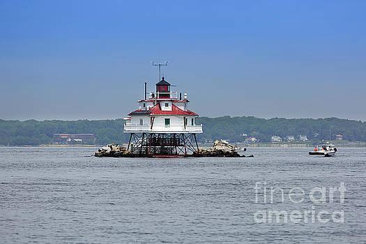 Thomas Point Shoal Light Chesapeake Bay Maryland by Louise Heusinkveld