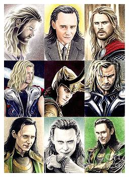 Thor and Loki montage by Wu Wei