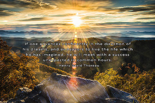 Thoreau Inspirational Quote by David Simchock