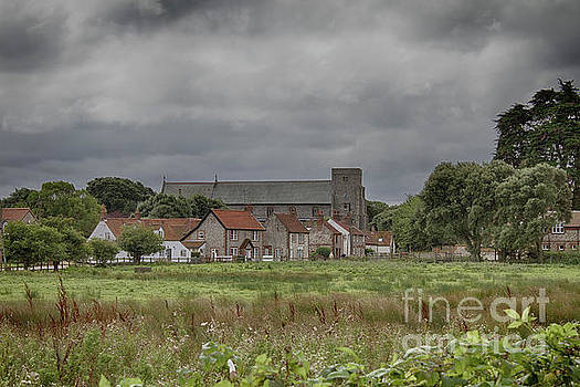 Thornham from the marsh by John Edwards