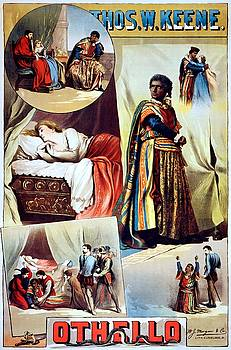 Thos. W. Keene, Othello, performing arts poster, 1884 by Vintage Printery