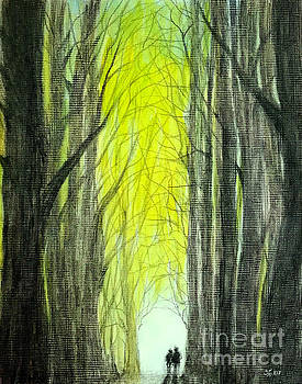 Though the forest to the light  by Wonju Hulse