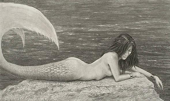 Thoughtful Mermaid by Leonardo Pereznieto