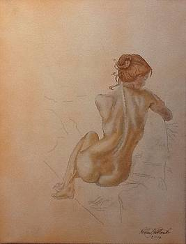 Thoughtful nude lady by Robert Monk