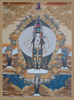 Thousand-armed Avalokitesvara by Ts