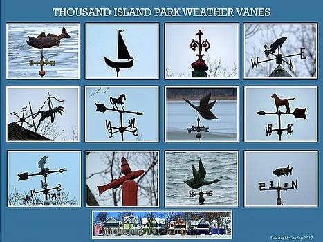 Thousand Island Park Weather Vanes by Dennis McCarthy