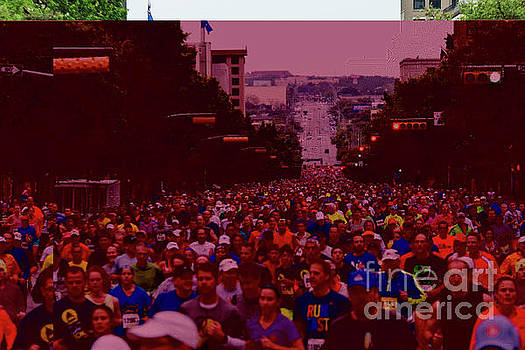Herronstock Prints - Thousands of runners fill Congress Avenue during the annual Capitol 10K race in downtown Austin