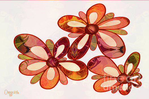 Three Abstract Flowers by Omaste Witkowski by Omaste Witkowski