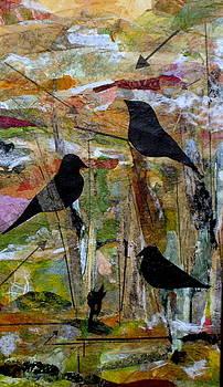 Three Bird Collage by Katey Sandy