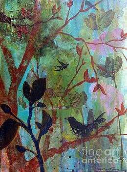 Three Birds Amongst Trees by Robin Maria Pedrero