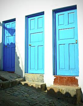 Three Blue Doors by Susan Schumann