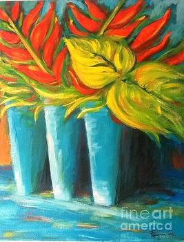 Three Blue Vases by Fernanda Cruz