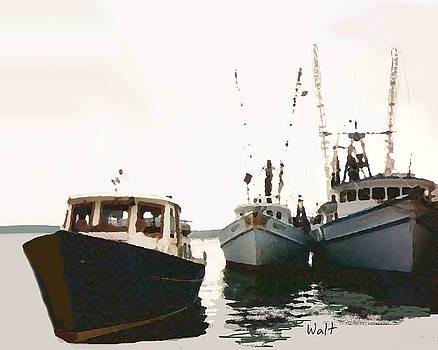 Three Boats by Walter Chamberlain