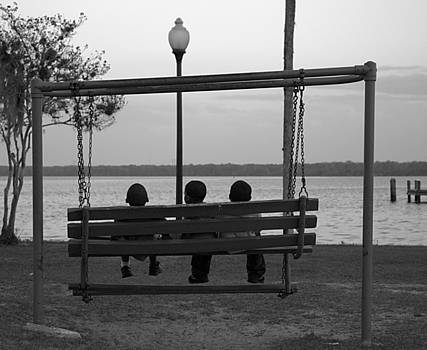 Kathi Shotwell - Three Boys on a Swing