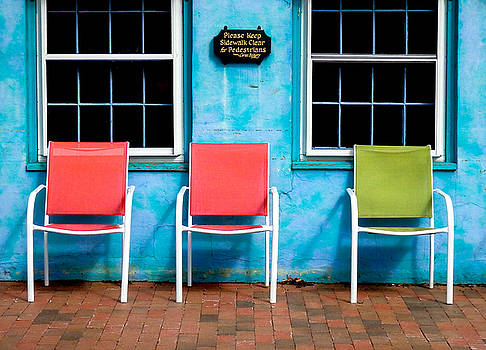 Three Chairs and Two Windows by Nancy De Flon