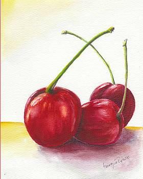 Three cherries by Georgia Pistolis