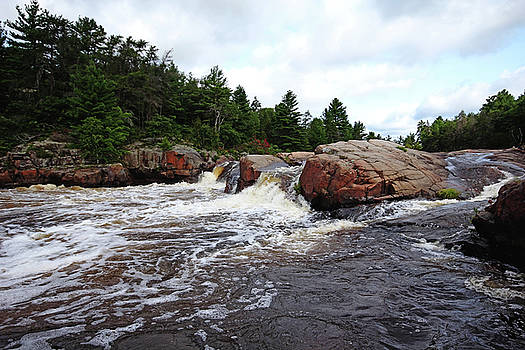 Debbie Oppermann - Three Chutes Flowing Sturgeon Chutes I
